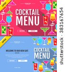 flat style cocktail menu...
