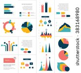 big set of flat infographics... | Shutterstock .eps vector #383168980