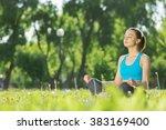enjoying minutes of solitude | Shutterstock . vector #383169400