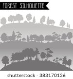 horizontal banners  forest in a ... | Shutterstock .eps vector #383170126