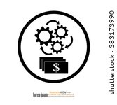 the concept of financial... | Shutterstock .eps vector #383173990