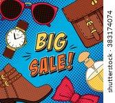 vector fashion big sale... | Shutterstock .eps vector #383174074