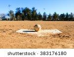 Baseball In A Baseball Field I...