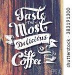 calligraphic inscription  ... | Shutterstock .eps vector #383191300