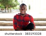 close up portrait of smiling... | Shutterstock . vector #383193328