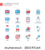 set of modern vector office... | Shutterstock .eps vector #383195164