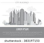 great city map creator. vector... | Shutterstock .eps vector #383197153