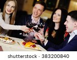 a group of friends in the... | Shutterstock . vector #383200840