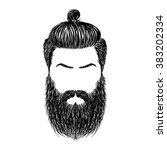 hand drawn brutal hairstyles...   Shutterstock .eps vector #383202334