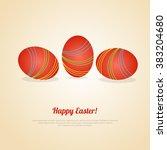 easter eggs background. vector... | Shutterstock .eps vector #383204680