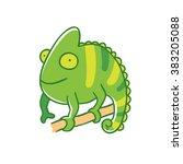 chameleon icon illustration. | Shutterstock .eps vector #383205088