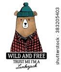 bear illustration with...   Shutterstock .eps vector #383205403