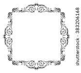vintage baroque frame scroll... | Shutterstock .eps vector #383206168