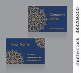 creative business card template ... | Shutterstock .eps vector #383206300