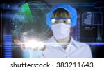 doctor with futuristic hud... | Shutterstock . vector #383211643