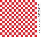 Modern Checkered Pattern Red...