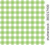seamless green gingham pattern. ...   Shutterstock .eps vector #383217430