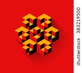 3d cubes logo design. science... | Shutterstock .eps vector #383219500
