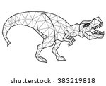 geometric tyrannosaurus  with... | Shutterstock .eps vector #383219818