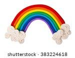 plasticine rainbow isolated on... | Shutterstock . vector #383224618