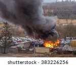 car vehicle heavy fire accident ... | Shutterstock . vector #383226256