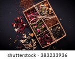 Assortment Of Dry Tea On A...