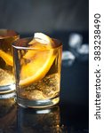alcohol cocktail with brandy ... | Shutterstock . vector #383238490