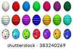 set of colorful easter eggs...   Shutterstock .eps vector #383240269