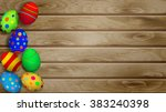 easter background with easter... | Shutterstock .eps vector #383240398