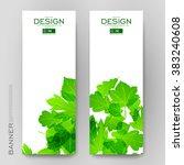 beautiful banner vector... | Shutterstock .eps vector #383240608