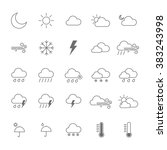 set of weather icon. isolated... | Shutterstock .eps vector #383243998