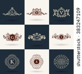 luxury logos monogram. vintage...   Shutterstock .eps vector #383247109