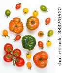 unique colorful ripe tomatoes... | Shutterstock . vector #383249920