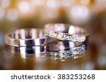 wedding rings | Shutterstock . vector #383253268