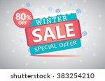 winter sale vector design  | Shutterstock .eps vector #383254210