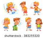 children get sick. child has... | Shutterstock .eps vector #383255320