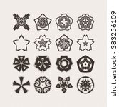 set of ornate mandala symbols.... | Shutterstock . vector #383256109