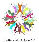 team achievement bright idea  | Shutterstock .eps vector #383259736