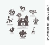 infographics agriculture  land... | Shutterstock .eps vector #383261074