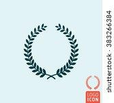 laurel wreath icon. winner...
