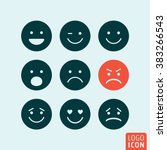 emoticons icon. set emoji icons ... | Shutterstock .eps vector #383266543