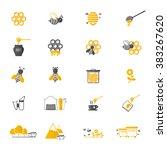 Bee And Honey Icon Set