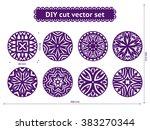 diy cut vector set. abstract... | Shutterstock .eps vector #383270344