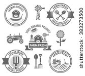farm fresh and organic products ... | Shutterstock .eps vector #383273500
