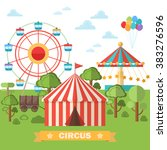abstract classical circus tent .... | Shutterstock .eps vector #383276596