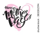 mothers day concept hand... | Shutterstock .eps vector #383281594