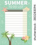 To Do List. Cute Page For Note...