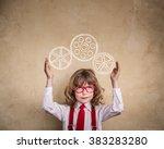 portrait of child businessman...   Shutterstock . vector #383283280