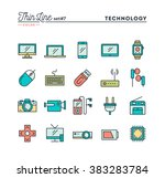 technology  devices  gadgets... | Shutterstock .eps vector #383283784