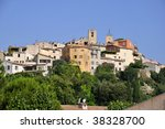 Small photo of Village de Biot on the top of a hill in the Alpes-Maritimes department in southeastern France